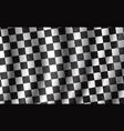racing and rally car checkered flag vector image vector image