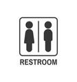 restroom symbol icon vector image vector image