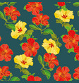 seamless pattern of painted flowers fabric vector image vector image