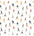 seamless pattern with running people or athletes vector image vector image
