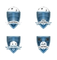 set floorball logo for team and cup vector image vector image