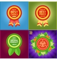 Set of nice labels to mark product features vector image vector image