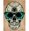 skull a mark of the danger warning T-shirt vector image vector image