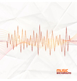 Sound Wave on Paper Background Abstract Equalizer vector image vector image