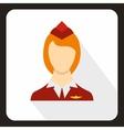 Stewardess icon flat style vector image vector image