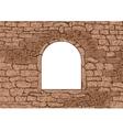 stone window vector image