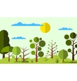 Summer forest flat background vector image vector image