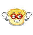 super hero egg tart character cartoon vector image