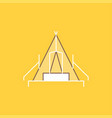 tent camping camp campsite outdoor flat line vector image