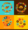 thanksgiving concept set vector image