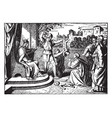 the judgement of solomon - the real mother is vector image vector image