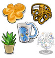 the set of objects in the form of an octopus vector image vector image