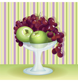 Vase with fruits vector image