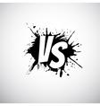 Versus letters logo White V and S on black splash vector image vector image