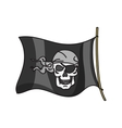 waving pirate flag jolly roger vector image vector image