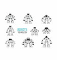 white different robots set vector image vector image