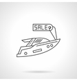 Yacht for sale icon flat line design icon vector image vector image