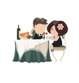 Young adult couple drinking red wine after vector image