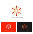 star shine colored logo vector image