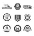Truck Label Set vector image