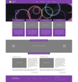 Website template Modern flat style with banner vector image