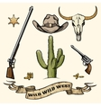 Wild West Elements vector image