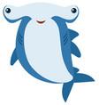 hammerhead shark with big smile vector image