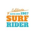 Surf rider California vector image