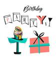 birthday holiday christmas greeting and vector image
