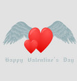 hearts and white wings vector image