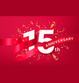 15th anniversary celebration banner template vector image vector image