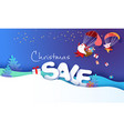 2019 new year sale design card with santa claus vector image vector image