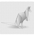 a paper origami kangaroo paper vector image vector image