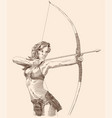 amazon with bow