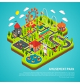Amusement Park Attractions Fairground Isometric vector image vector image