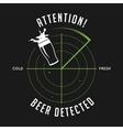 Attention beer detected print Chalkboard vintage vector image vector image