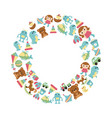 background with children toys background with vector image