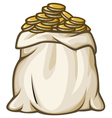 bag with gold coins vector image vector image