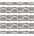 black and white leafs seamless pattern vector image