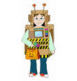 Boy in cosmo costume vector image vector image