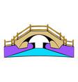 bridge icon cartoon vector image vector image