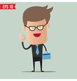 Business man holding bag - - EPS10 vector image