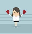 businesswoman ready for fighting on her business vector image