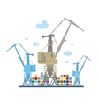 Cargo Cranes Isolated on White vector image vector image