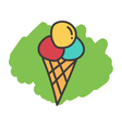 Cartoon doodle ice cream vector image vector image