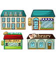 cartoon Shops set vector image vector image
