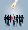 choosing best candidate business concept vector image vector image