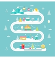 Christmas and Winter Holidays Road Map Lights vector image vector image