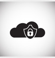 cloud data storage protection on white background vector image vector image
