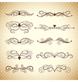 collection dividers and ornate headpieces vector image vector image